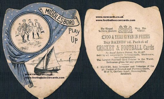 1890s Middlesbrough Boro Baines shield
